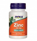 NOW Zinc Gluconate 50 mg 100 таб