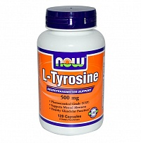 NOW L-Tyrosine 500 мг 60 капс